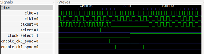 clock deglitch mux switching waveform